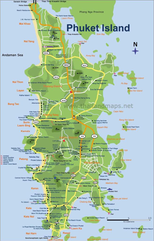 Phuket öblök, szórakozóhelyek, programok. különleges szálláshelyek.